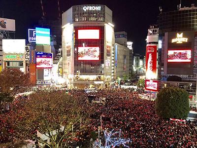 渋谷年末カウントダウン 12万人