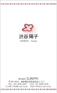 デザイン名刺 カジュアル DCT-016