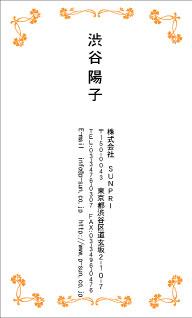デザイン名刺 カジュアル DCT-020