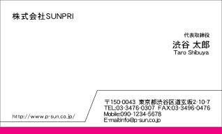 デザイン名刺スタンダード DY-021