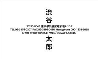 シンプル名刺 SY-010
