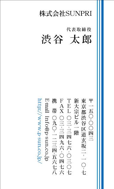 スピード名刺(カラー) DT-002